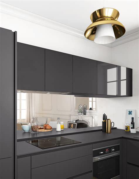 mod鑞e de plan de travail pour cuisine un plan de travail noir mat pour une cuisine contemporaine