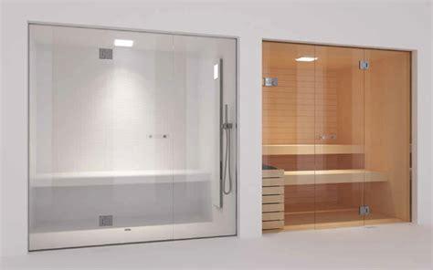 Glass Steam Room and Sauna   Contemporary   Home Gym
