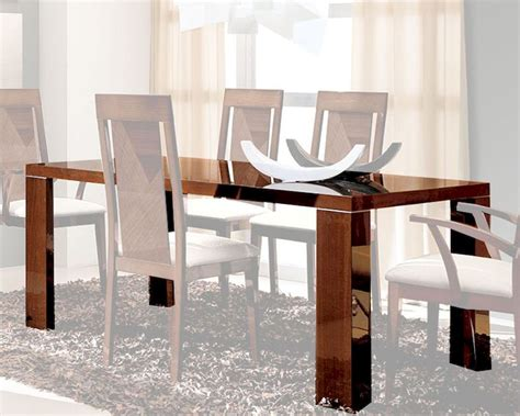 Gloss Dining Table Dining Table In High Gloss Walnut Finish 33d62