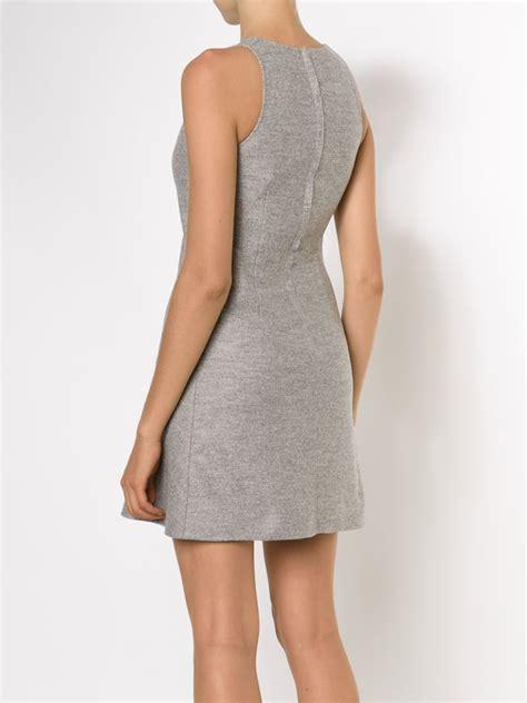 Ck Mini Bordir calvin klein sleeveless mini dress in gray lyst