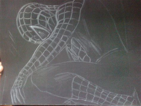 imagenes a blanco y negro de spiderman mi dibujo de spiderman en fondo negro taringa