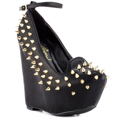 shoes fashion style wedges spiked shoes shoegasm