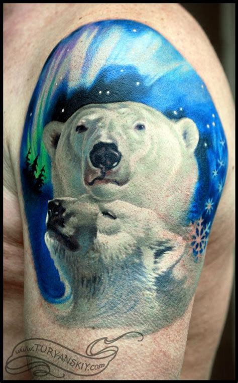 polar bear tattoo oleg turyanskiy tattoos animal polar bears