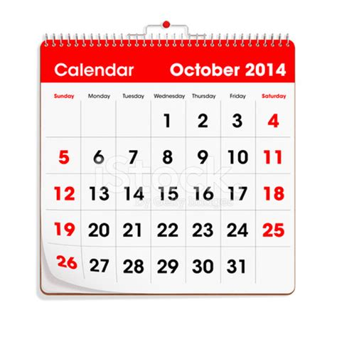 Calendar For October 2014 Wall Calendar October 2014 Stock Photos Freeimages