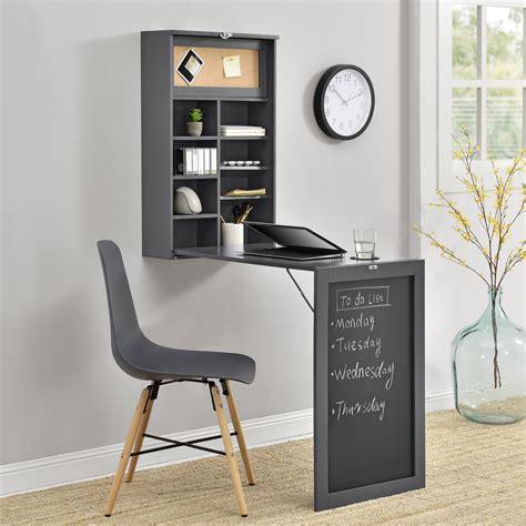 scrivania a muro ribaltabile en casa 174 tavolo da muro grigio scriania scaffale parete