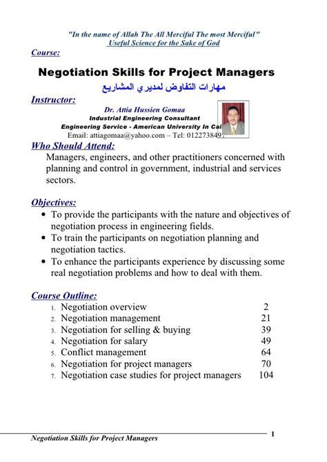 Resume Negotiation Skills Negotiation Skills Studies Pdf Frudgereport954 Web