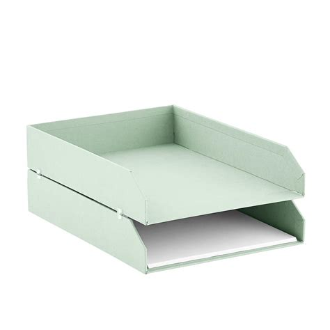 Paper Tray - bigso mint stockholm stackable letter trays set of 2 the