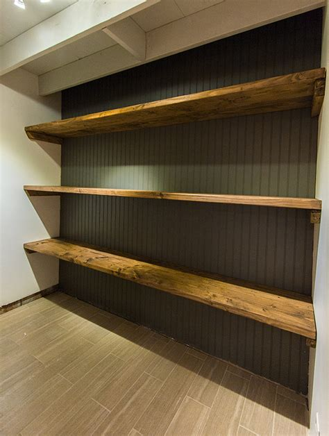 new laundry room diy wood storage shelves sue