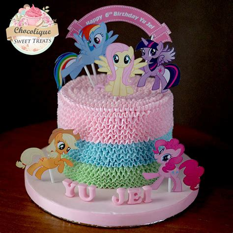 Hiasan Kue Tart Birthday Cake Topper Pony Poni Mungil 16pc my pony cake for yu jei chocolique