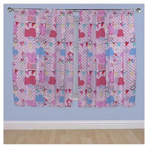 peppa pig curtains buy peppa pig curtains w168x183cm 66x72 quot from our peppa