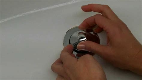 how to remove a bathtub drain stopper how to remove a pop up tub drain plug stopper easy no screw no tools needed