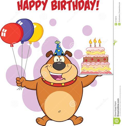candele buon compleanno saluto di buon compleanno con il bulldog di brown
