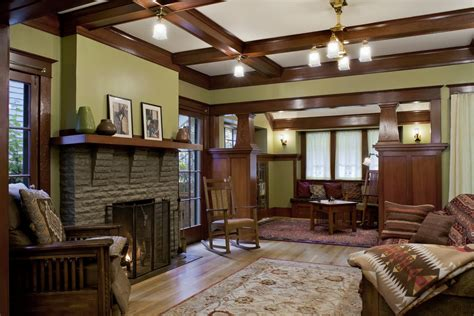 arts and crafts interior paint colors house style and plans