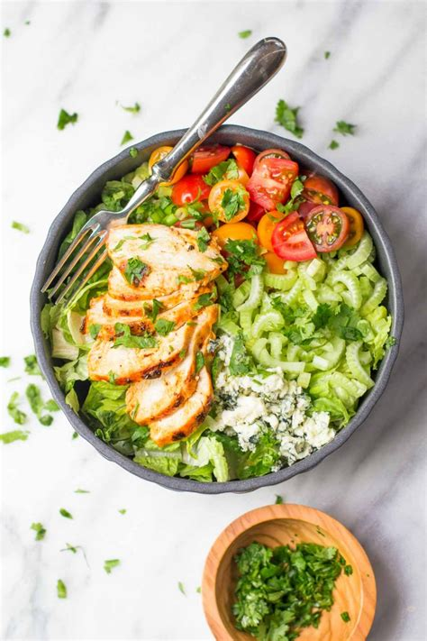 How To Make A Kitchen Cabinet grilled buffalo chicken salad with greek yogurt blue