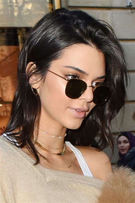 Jenner Hairstyles by Kendall Jenner Black Bob Hairstyle