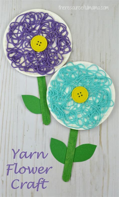 and crafts best 25 flower crafts ideas on