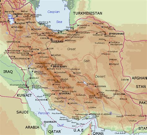 geographical map of physical geography of iran map pictures