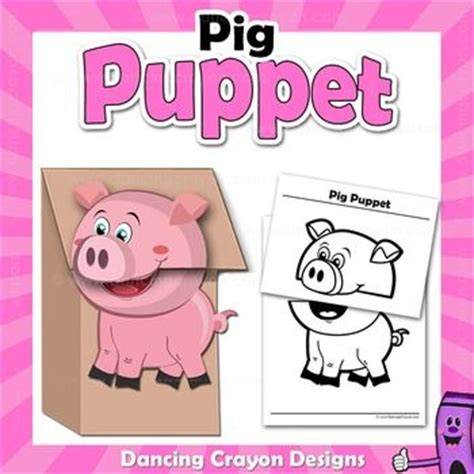 pig puppet template 1000 images about paperbag craft ideas on