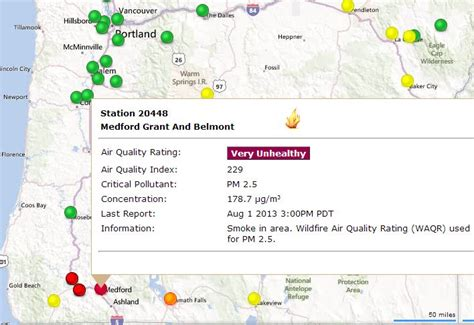 air quality map of oregon map oregon air quality nwaonline co