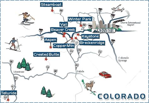colorado ski resorts map colorado ski areas winter for skiers