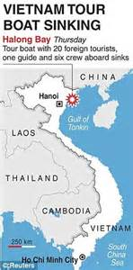 tourist boat sinks usa vietnam boat sinks two u s tourists killed sleeping in