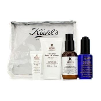 Kiehls Midnight Set kiehl s healthy skin essentials set line reducing concentrate daily uv defense spf 50