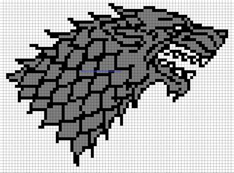Minecraft Build Templates by Minecraft Pixel Templates House Stark Badge Of
