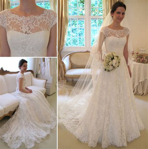 Lace Bridal Gowns by New Arrival Lace A Line Princess Wedding Dresses 2016 With