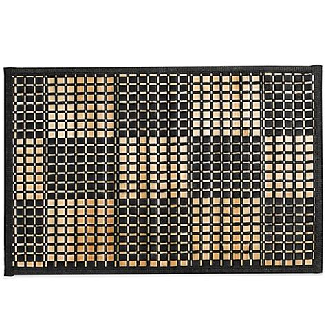 placemats bed bath and beyond bamboo black woven checked placemat bed bath beyond