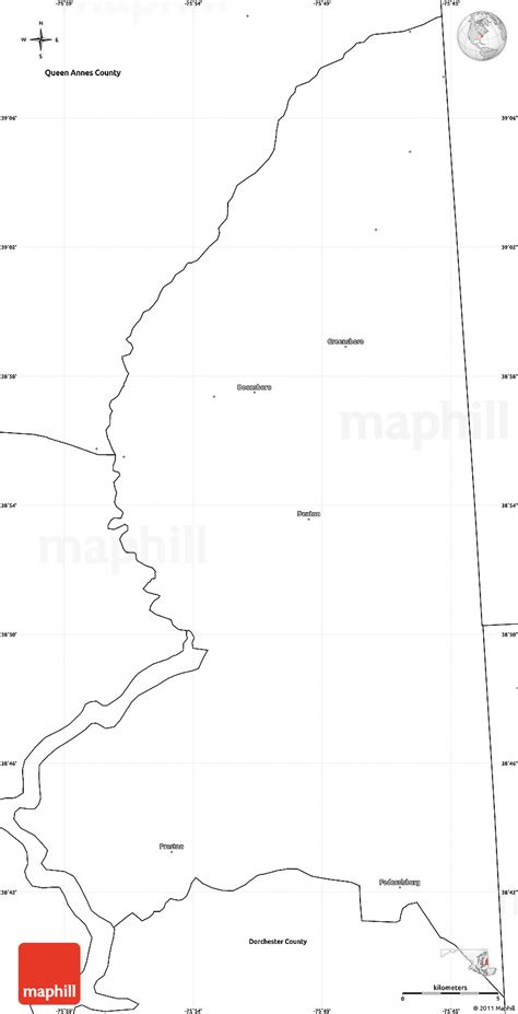 maryland map blank blank simple map of caroline county