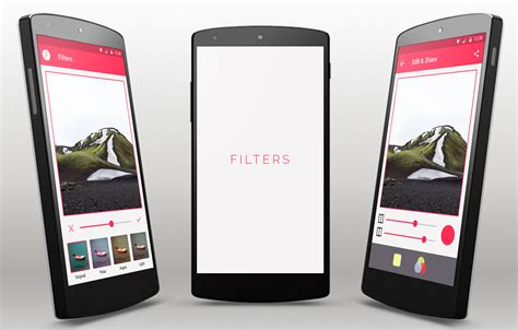 Free Image Editing Template For Android App Android Mobile App Templates