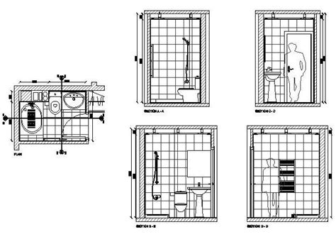 toilet layout dwg free cad drawing of a bathroom design cadblocksfree cad