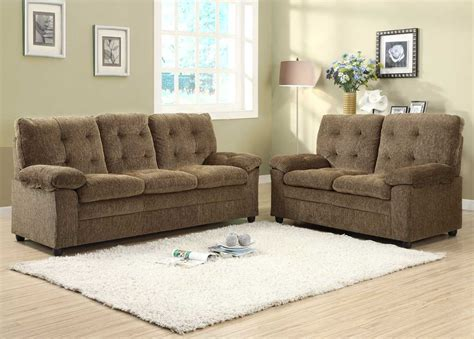 homelegance charley sofa set golden brown chenille