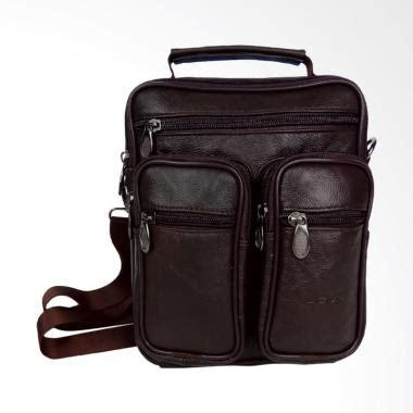Tas Pria Kulit Selempang Poolo Mini One Black jual tas kulit pria terbaru harga promo diskon blibli