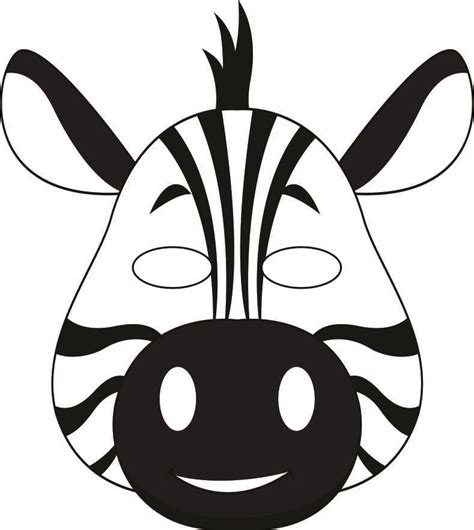 Printable Animal Masks Zebra | jungle masks
