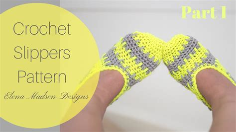 crochet socks pattern youtube crochet slippers free pattern part 1 youtube