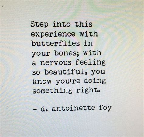 wedding nerves quotes step into this experience with butterflies in your bones