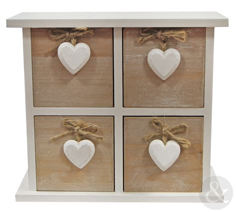 shabby chic wooden 3 or 4 drawer chest vintage white