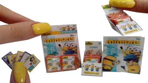 miniature diy projects diy miniature sticker album minions for dollhouse