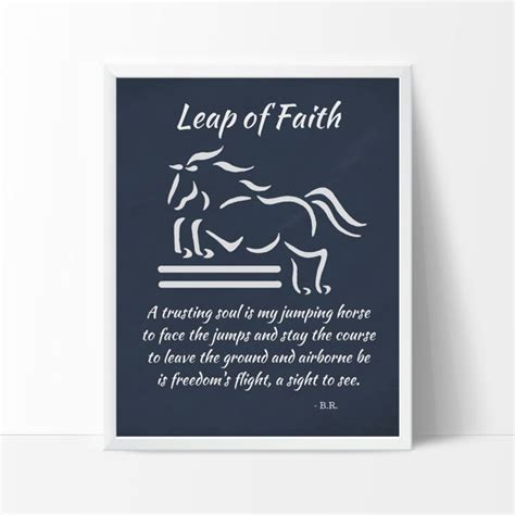 design by humans leap of faith jumping horse art print leap of faith design poem equine