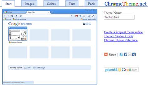 create theme for google chrome online create your own custom google chrome theme technoarea