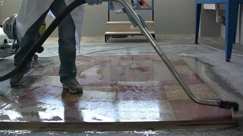 Terrazzo floor polishing   How to polishing floor with