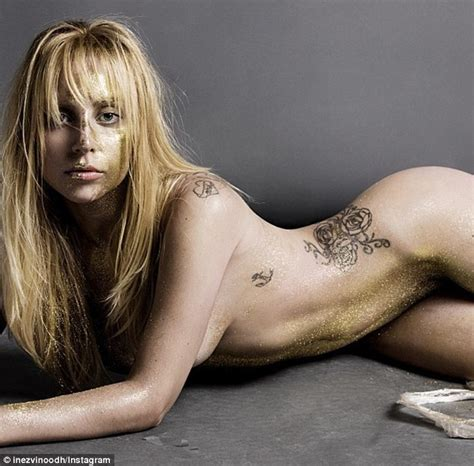 lady gaga nude shoot lady gaga in v magazine shows her ribcage and back bones