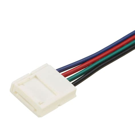 10 4 wire cable 10 30 50 100cm 10mm 4 pin rgb connector cable wire