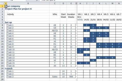 Excel Project Planning Template Excel Project Planner Template Calendar Template 2016