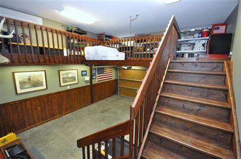 High Ceiling Garage Storage Ideas Amazing Garage Storage Add A Staircase And Cat Walk Above