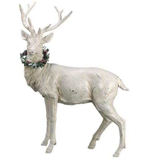 8 Pieces Of Reindeer Decor by 18 Quot White Glittered Standing Reindeer Table Top
