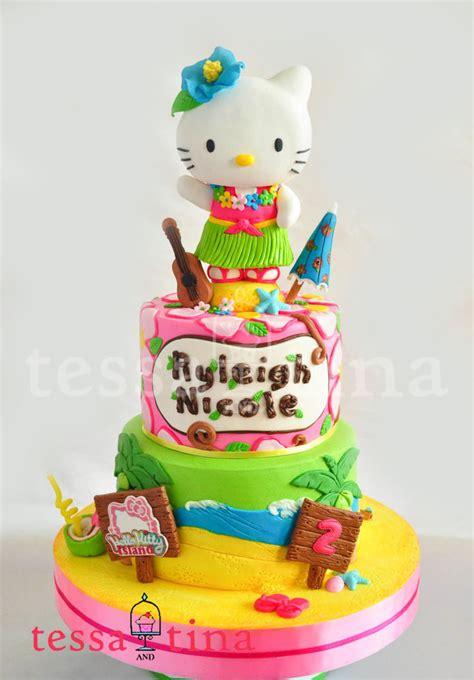 hello kitty themed cake hawaiian hello kitty cake cakecentral com