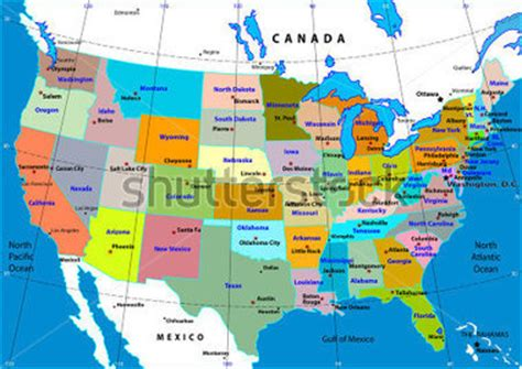 interactive usa map with states and capitals bunte usa karte mit staaten und hauptst 228 dten stock