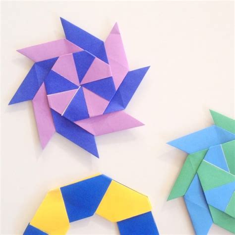 Origami Shuriken 8 Point - free coloring pages origami 8 point the